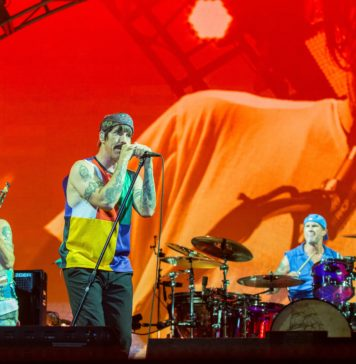 Red Hot Chili Peppers in concert in 2017
