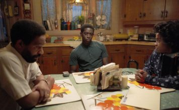 "Kevin Carroll, Damson Idris, and Michael Hyatt in ""Snowfall"""